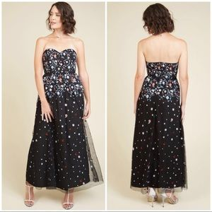 ModCloth Floral Embroidered Appliqué Maxi Dress